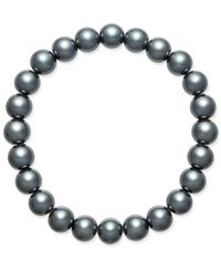 Charter Club Gray Imitation Pearl Stretch Bracelet Only At Macy's Grey
