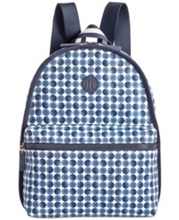 Tommy Hilfiger Polka Dot Basic Canvas Backpack Midnight Blue