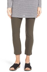 Eileen Fisher Petite Women's Washable Stretch Crepe Slim Ankle Pants Green
