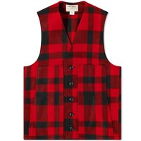 Filson Mackinaw Wool Gilet Red