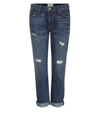 Current Elliott The Fling Slim Boyfriend Distressed Jeans Blue