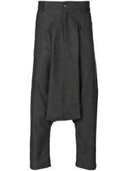 Societe Anonyme Des Vosges Trousers Unisex Silk Cotton Linen Flax Xl Grey