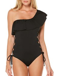 Laundry By Shelli Segal Zahara One Shoulder One Piece Swimsuit