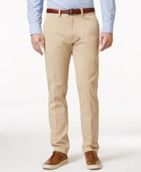 Kenneth Cole Reaction Men's Slim Fit Sustainable Stretch Chino Pants Khaki