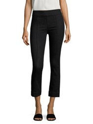 Helmut Lang Cropped Flared Denim Leggings Rinsed Black