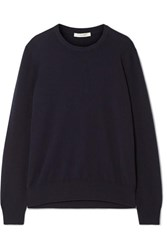 The Row Olive Cashmere Sweater Navy