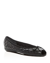 Paul Mayer Bay Brighton Quilted Peep Toe Ballet Flats 100 Bloomingdale's Exclusive Black