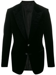 Tom Ford Peaked Lapel Blazer Black