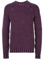 Tod's Ribbed Mock Neck Jumper Pink Purple