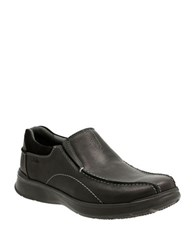 Clarks Leather Slip On Shoes Black