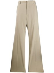 Lanvin Pleated Tailored Trousers Neutrals