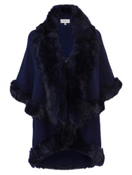 Coast Kate Faux Fur Cape Navy