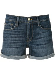 Frame Denim Short Shorts Blue