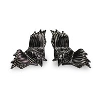 Bellus Domina Angel Wings Stud Earrings Black