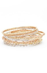 Kendra Scott Women's Sooter Set Of 9 Bangles White Cz Mixed Metal