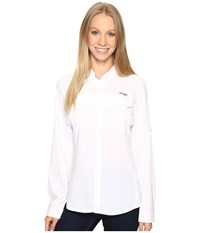 Columbia Lo Drag Long Sleeve Shirt White Women's Long Sleeve Button Up