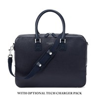 Aspinal Of London Men's Mount Street Small Briefcase Navy