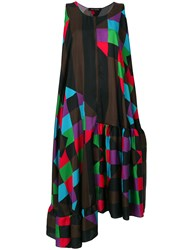 Ter Et Bantine Printed Midi Swing Dress Multicolour