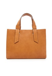 Forever 21 Structured Faux Leather Satchel Tan