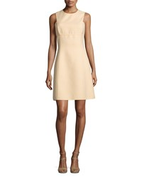 Michael Kors Collection Sleeveless Gingham A Line Dress Daffodil Yellow Women's Size 6