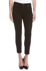 Karen Kane Women's 'Zuma' Frayed Stretch Crop Jeans Black