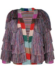 Missoni Lurex Fringe Cardigan Women Polyester Cupro Viscose Wool 40