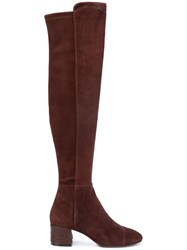 Tory Burch Nina Over The Knee Boots Brown