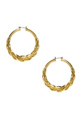 Luv Aj The Ribbon Hoops Metallic Gold