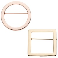John Lewis Geometric Shape Brooches Pack Of 2 Multi