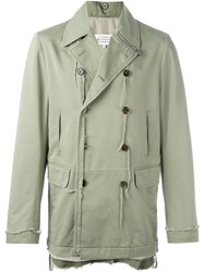 Maison Martin Margiela Distressed Double Breasted Jacket Green