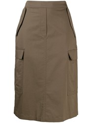 Theory Cargo Skirt Green