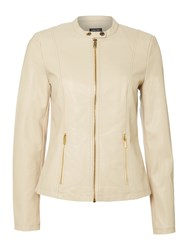 Episode Pu Leather Jacket With Gold Zipper Latte