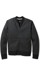 Wings Horns Coated Terry Bomber Jacket