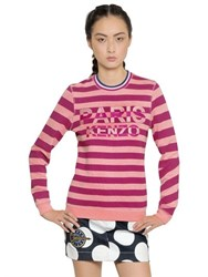 Kenzo Paris Embroidered Cotton Sweatshirt