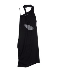 Manila Grace Knee Length Dresses Black
