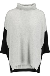 Duffy Oversized Two Tone Cashmere Turtleneck Sweater