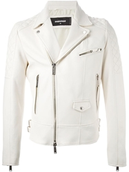 Dsquared2 Biker Jacket White