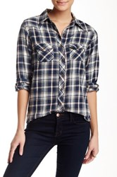 Angie Flannel Shirt Blue