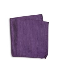Armani Collezioni Chevron Pattern Pocket Square Purple
