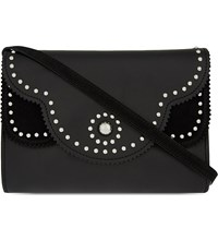 Sandro Adel Leather Shoulder Bag Noir