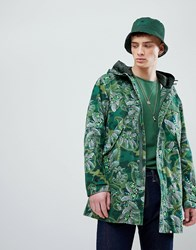 Pretty Green X Katie Eary Toria Aop Cassidy Parka Jacket In Green