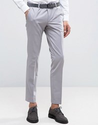 Noose And Monkey Super Skinny Suit Pants Gray