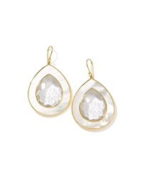Ippolita 18K Ondine Clear Quartz And Mother Of Pearl Drop Earrings Gold