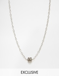 Designsix Ball Necklace In Silver