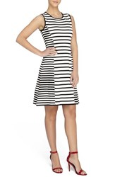 Women's Catherine Catherine Malandrino 'Claire' Stripe Knit Sleeveless Fit And Flare Dress