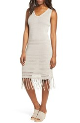 Tommy Bahama Pointelle Knit Tank Dress Natural