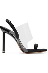 Alexander Wang Kaia Pvc And Suede Slingback Sandals Black
