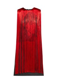 Calvin Klein 205W39nyc X Andy Warhol Stephen Sprouse Fringed Dress Red Multi