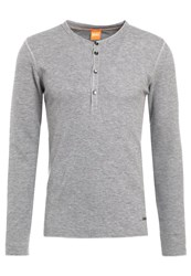 Boss Orange Topsider Long Sleeved Top Light Grey