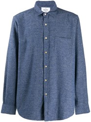 Portuguese Flannel Knitted Shirt Blue